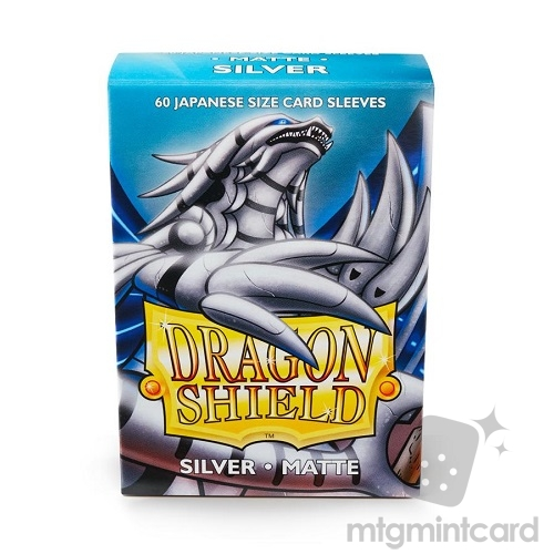 Dragon Shield 60 - Deck Protector Sleeves - Japanese size Matte Silver - AT-11108