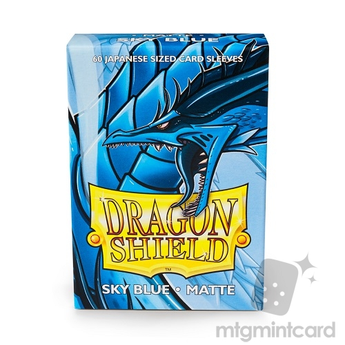 Dragon Shield 60 - Deck Protector Sleeves - Japanese size Matte Sky Blue - AT-11119