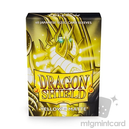 Dragon Shield 60 - Deck Protector Sleeves - Japanese size Matte Yellow - AT-11114