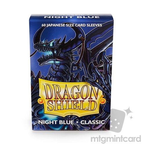 Dragon Shield 60 - Deck Protector Sleeves - Japanese size Night Blue - AT-10642