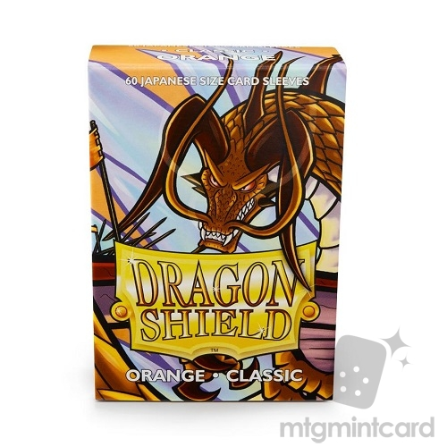 Dragon Shield 60 - Deck Protector Sleeves - Japanese size Orange - AT-10613