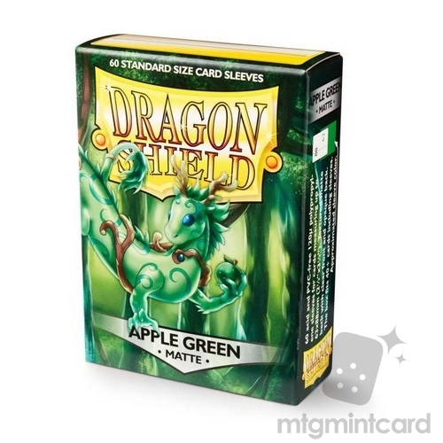 Dragon Shield 60 - Standard Deck Protector Sleeves - Matte Apple Green (Melanian) - AT-11218