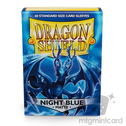 Dragon Shield 60 - Standard Deck Protector Sleeves - Matte Night Blue - AT-11242
