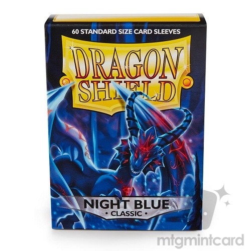 Dragon Shield 60 - Standard Deck Protector Sleeves - Night Blue - AT-10742