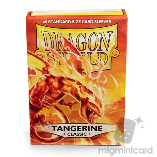 Dragon Shield 60 - Standard Deck Protector Sleeves - Tangerine (Sol) - AT-10730