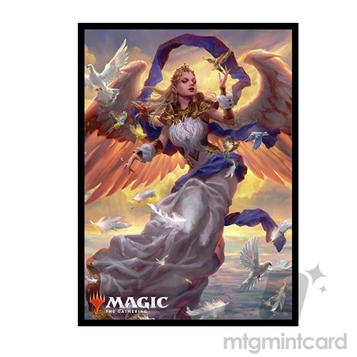 Ensky 80 - Magic MTG Players Card Sleeves - M19 - Angel of Dawn - MTGS-042