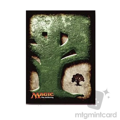 Ensky 80 - Magic MTG Players Card Sleeves - Mana Symbol - Forest - MTGS-021
