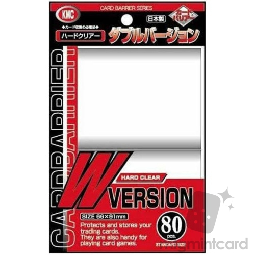 KMC 80 card sleeves deck protectors - Card barrier W Version (New Design) - 001003