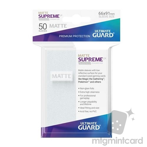 Ultimate Guard 50 - Supreme UX Sleeves Standard Size - Matte Frosted - UGD010812