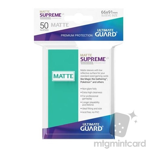 Ultimate Guard 50 - Supreme UX Sleeves Standard Size - Matte Turquoise - UGD010816