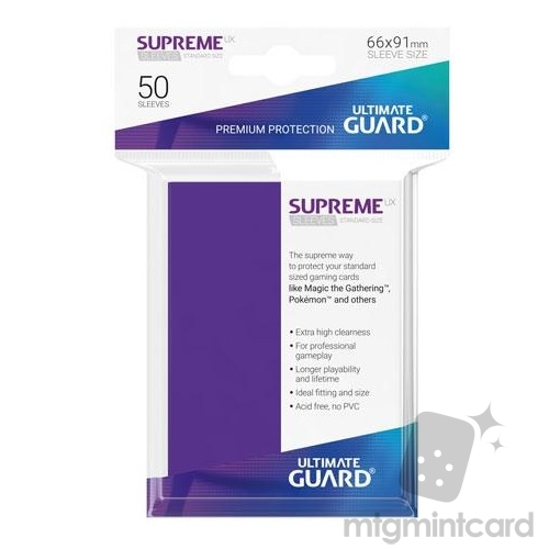 Ultimate Guard 50 - Supreme UX Sleeves Standard Size - Purple - UGD010800