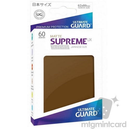 Ultimate Guard 60 - Supreme UX Sleeves Japanese Size - Matte Brown - UGD010605