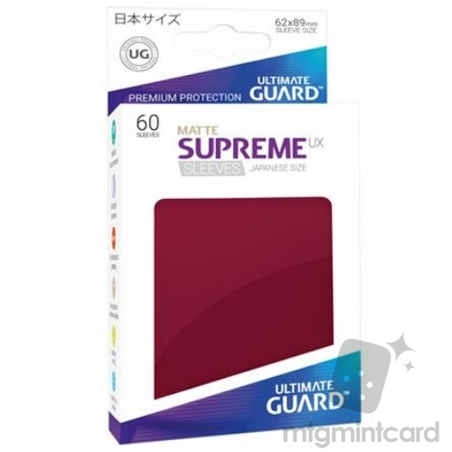 Ultimate Guard 60 - Supreme UX Sleeves Japanese Size - Matte Burgundy - UGD010610
