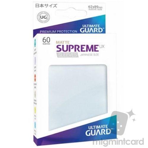 Ultimate Guard 60 - Supreme UX Sleeves Japanese Size - Matte Frosted - UGD010629