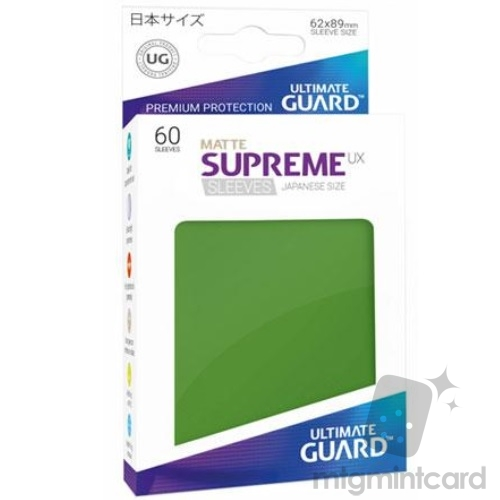 Ultimate Guard 60 - Supreme UX Sleeves Japanese Size - Matte Green - UGD010592