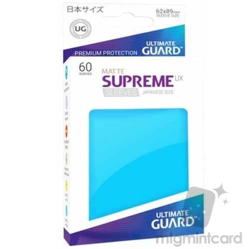 Ultimate Guard 60 - Supreme UX Sleeves Japanese Size - Matte Light Blue - UGD010596