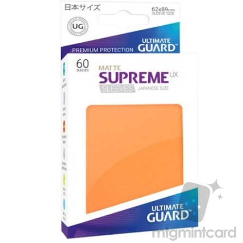 Ultimate Guard 60 - Supreme UX Sleeves Japanese Size - Matte Orange - UGD010602
