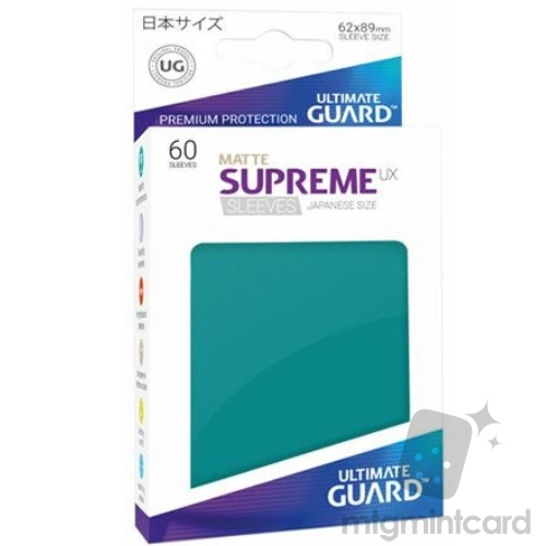 Ultimate Guard 60 - Supreme UX Sleeves Japanese Size - Matte Petrol Blue - UGD010593