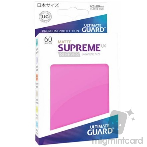Ultimate Guard 60 - Supreme UX Sleeves Japanese Size - Matte Pink - UGD010600