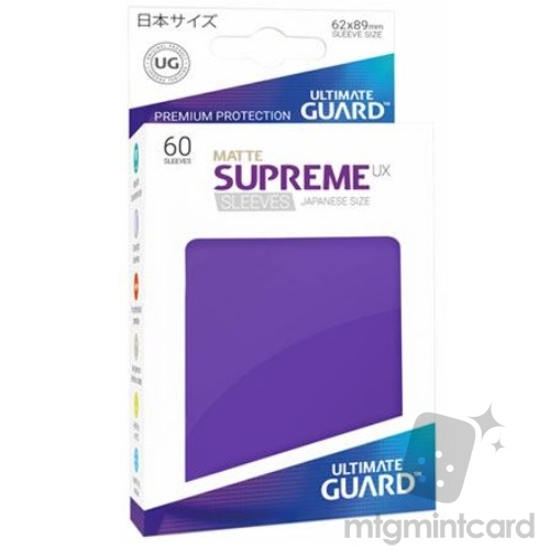 Ultimate Guard 60 - Supreme UX Sleeves Japanese Size - Matte Purple - UGD010599