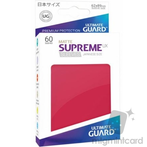 Ultimate Guard 60 - Supreme UX Sleeves Japanese Size - Matte Red - UGD010601