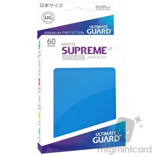 Ultimate Guard 60 - Supreme UX Sleeves Japanese Size - Matte Royal Blue - UGD010597
