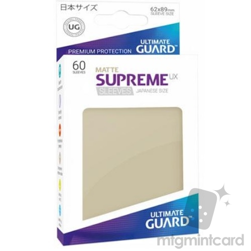 Ultimate Guard 60 - Supreme UX Sleeves Japanese Size - Matte Sand - UGD010604