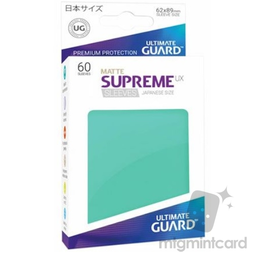 Ultimate Guard 60 - Supreme UX Sleeves Japanese Size - Matte Turquoise - UGD010594