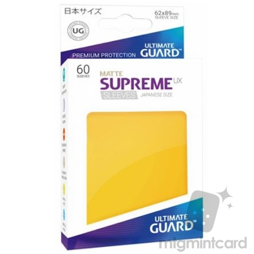 Ultimate Guard 60 - Supreme UX Sleeves Japanese Size - Matte Yellow - UGD010603
