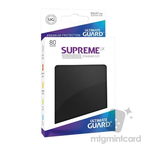 Ultimate Guard 80 - Supreme UX Sleeves Standard Size - Black - UGD010530