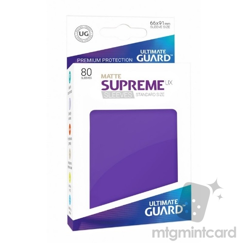Ultimate Guard 80 - Supreme UX Sleeves Standard Size - Matte Purple - UGD010561