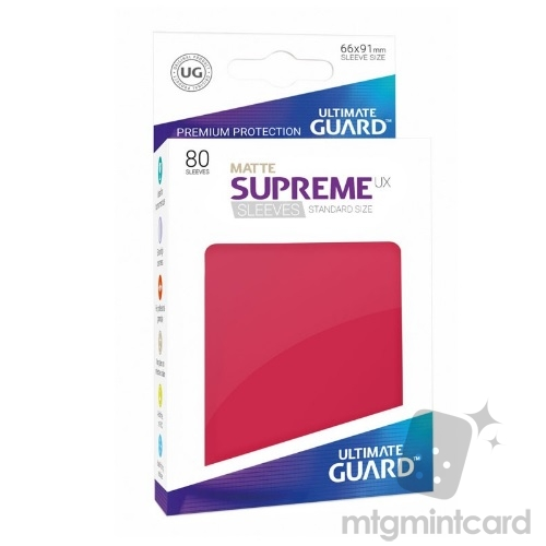 Ultimate Guard 80 - Supreme UX Sleeves Standard Size - Matte Red - UGD010563