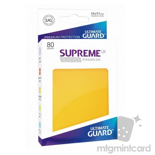 Ultimate Guard 80 - Supreme UX Sleeves Standard Size - Yellow - UGD010546
