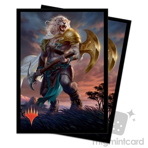 Ultra PRO 100 Magic Deck Protector Sleeves - Core Set 2020 - v1 Ajani, Strength of the Pride - 18099