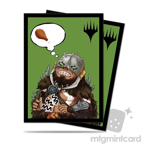 Ultra Pro 100 - Magic Standard Deck Protector - Chibi Collection Garruk - I'm Starving! - 86910