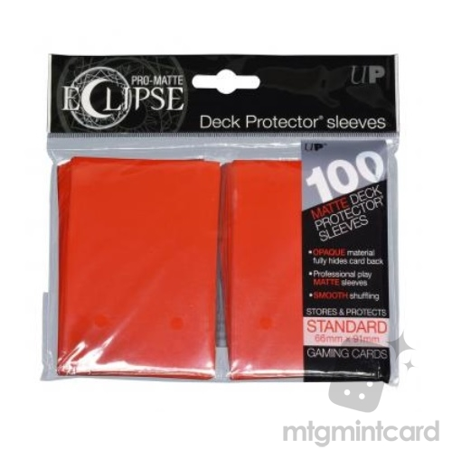 Ultra PRO 100 - Pro Matte Eclipse - Standard Deck Protector Sleeves - Apple Red - 85604