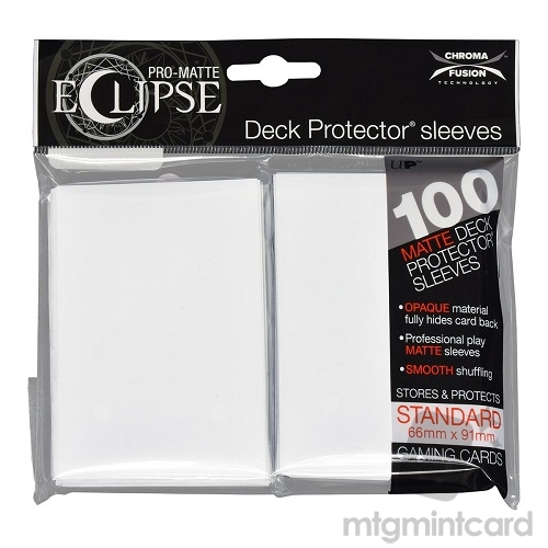 Ultra PRO 100 - Pro Matte Eclipse - Standard Deck Protector Sleeves - Arctic White - 85600
