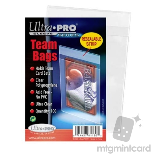 Ultra Pro 100 - Team Bags Resealable Sleeves - 81130