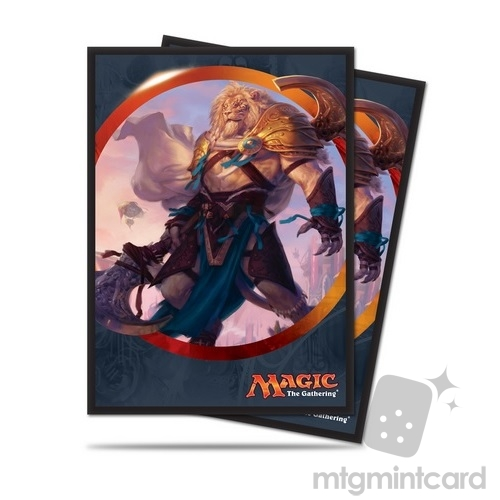 Ultra PRO 80 Magic Deck Protector Sleeves - Aether Revolt - V1 Ajani Unyielding - 86486