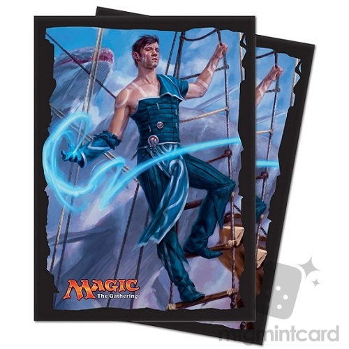 Ultra PRO 80 Magic Deck Protector Sleeves - Ixalan - v1 Jace, Cunning Castaway - 86614