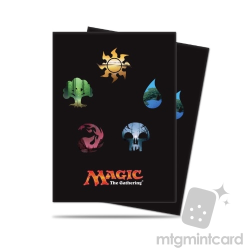 Ultra PRO 80 Magic the Gathering Deck Protector Sleeves - Mana 5 - Symbols - 86469