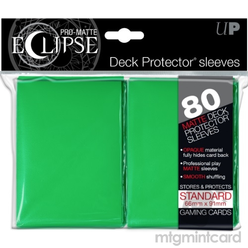 Ultra PRO 80 - Pro Matte Eclipse - Standard Deck Protector Sleeves - Green - 85251