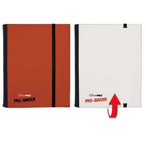 ULTRA PRO PRO-BINDER 4-POCKET PORTFOLIO RED/ WHITE 84025