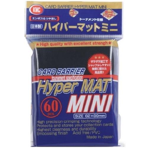 KMC 60 card sleeves deck protectors Mini Hyper Matte Blue New Design Yugioh YGO