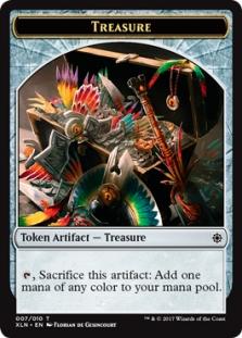TREASURE TOKEN 8//10 X4 Ixalan XLN Magic MTG MINT CARD