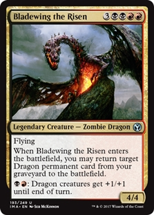 Bladewing the Risen FOIL Iconic Masters NM-M Black Red Uncommon CARD ABUGames