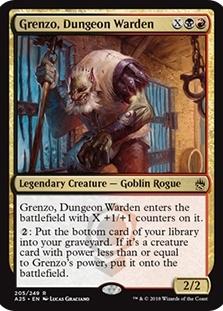 DUNGEON WARDEN Masters 25 MTG Gold Creature — Goblin Rogue Rare GRENZO