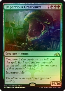 Guilds of Ravnica Buy-a-Box Promo NM MTG Impervious Greatwurm 273//259