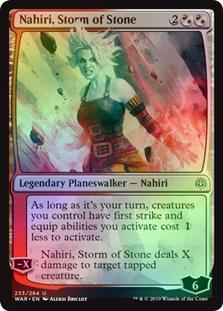 Folha nahiri Tempestade De Pedra X4 War Of The Spark Guerra Planeswalker Magic The Gathering Cartão