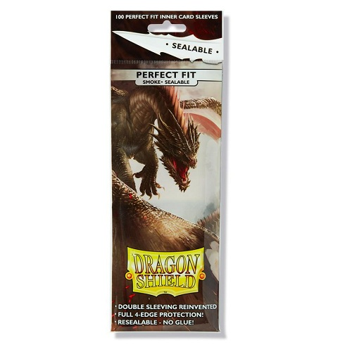 Dragon Shield 100 Perfect Fit Sealable Deck Protector Inner Card Sleeves Clear